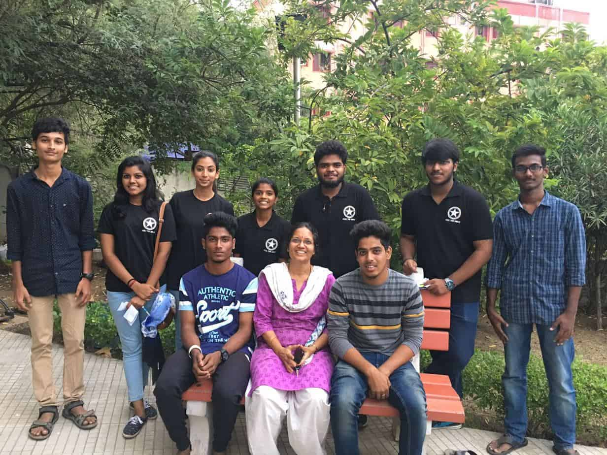 Shobha Menon, Founder, Nizhal with a volunteer team at the KTP. Photo courtesy: Nizhal