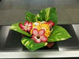 A flower arrangement in the Lobby of one of the blocks at Sabari Terrace apartments. Pic credit: Harsh Koda