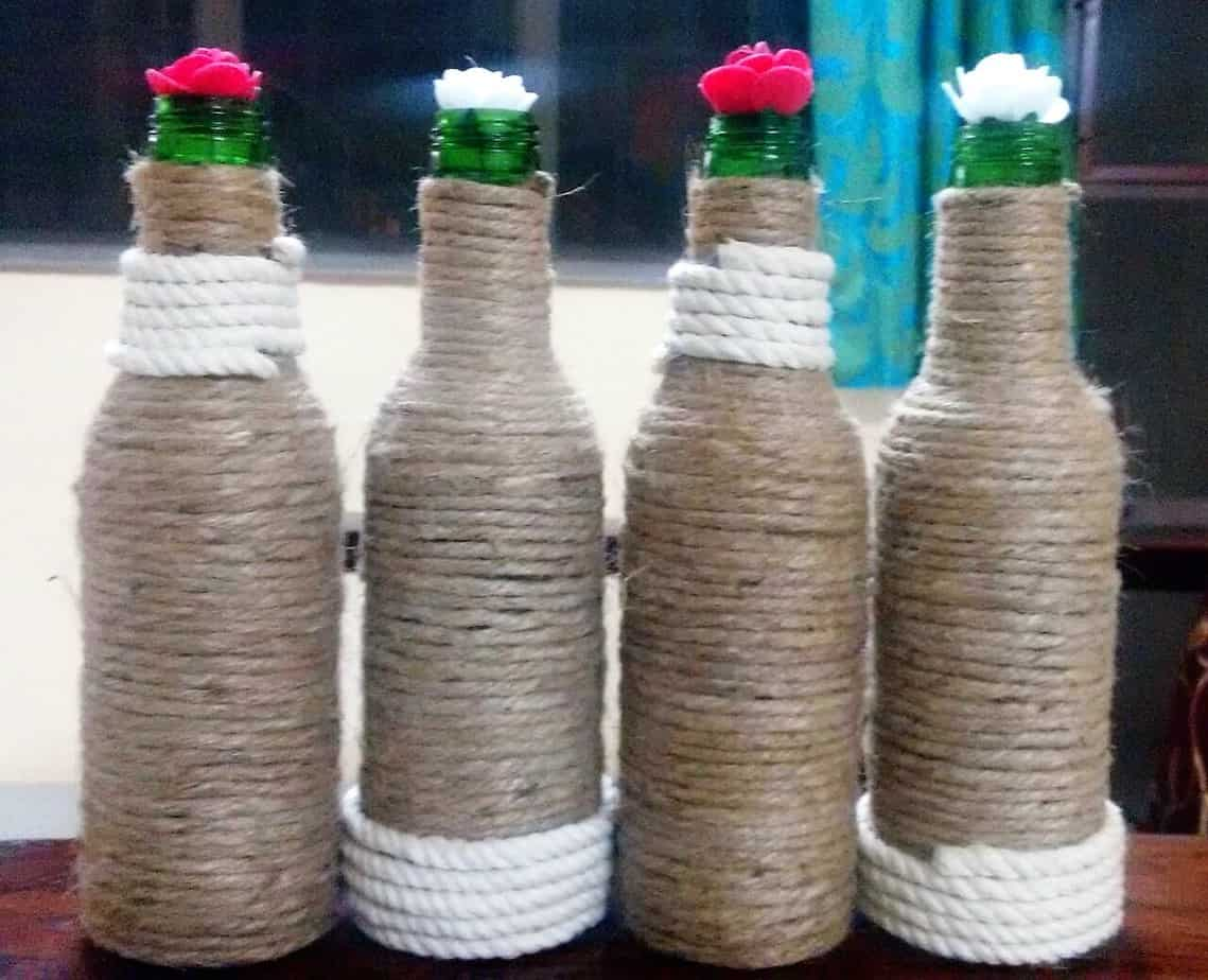 Upcycling a citizen s guide to creatively reducing for Decorative items from waste bottles