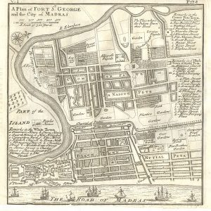 Plan of Fort St George and the City of Madras 1726. Pic: Herman Moll/Wikimedia