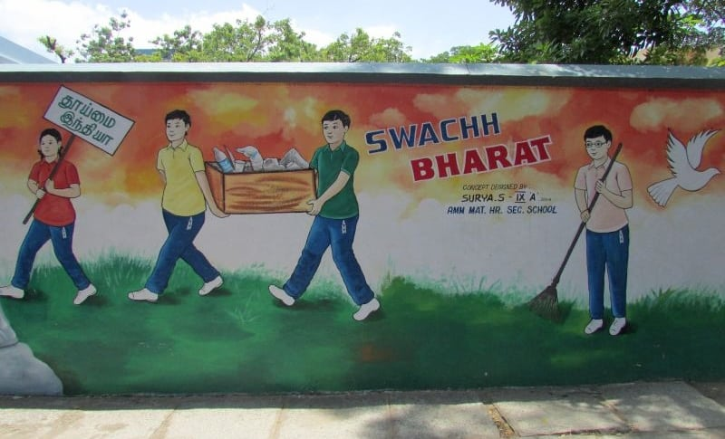 Kotturpuram Schoolkids Mural On School Wall Is Much More Than A