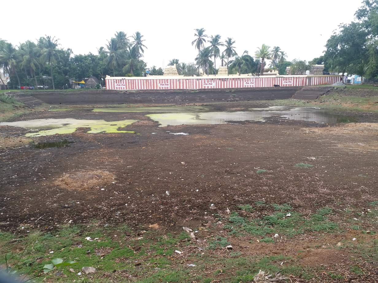 Dhenupureeswarar temple tank at Madambakkam cries for attention. With rains around the corner, devotees say that any blockage at the inlet points that carry rainwater should be cleared.